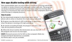 using a cell phone behind the wheel is like driving drunk say  view full sizeken