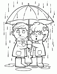 Small Picture Rainy Spring Season coloring page for kids seasons coloring pages