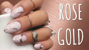 Rose Gold Nail Art! - YouTube