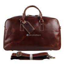 mens brown leather travel bags