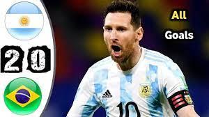 Argentina Vs Brazil 2-0 ◾ All goals ...