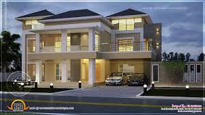 Modern villa night view elevation   Indian House Plans
