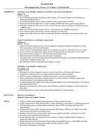 Technical Support Associate Resume Samples Velvet Jobs
