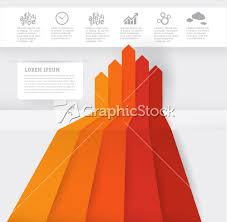 Free Orange Bar Graph Infographic Template
