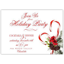 holiday invitations candy cane floral swag holiday invitations paperstyle