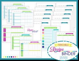 Recipe Binder Templates Recipe Binder Printable Kit