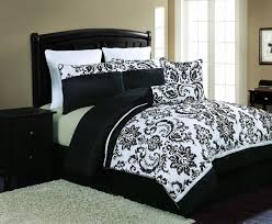 simple bedroom with white black fl flocking comforter set queen regard to and sets prepare 17