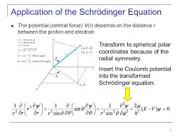 3 of the schrödinger equation the potential central force v r