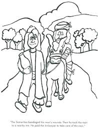 Good Samaritan Coloring Page Free The Good Coloring Pages Free As