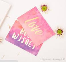 Wedding Ceremony Card Creative Folding Hot Stamping Watercolor Graffiti Gift Card Festival