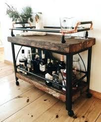 diy wood bar. Wood Bar Cart Wooden Rustic Diy Pallet