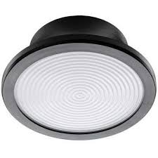 lightbulb replacement fixture 7 in round matte black 60 watt equivalent integrated led flushmount
