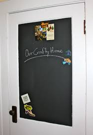 Kitchen Bulletin Board Our Crafty Home Magnetic Chalkboard Door