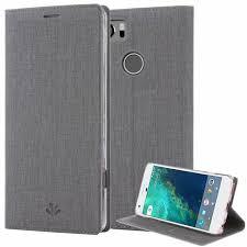 google pixel 2 xl case pu leather slim flip wallet card slots cover kickstand
