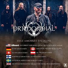 Primordial Entering Charts Worldwide With New Album Exile