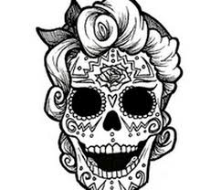 11 Best Images Of Day Of The Dead Masks Coloring Pages Day Of The