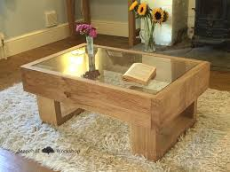 wood coffee table with glass top home design