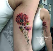 Tetování Watercolor Poppy Tattoo Tetování Tattoo