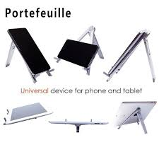 portefeuille multi angle adjule foldable universal desk stand holder for ipad pro iphone tablet pc