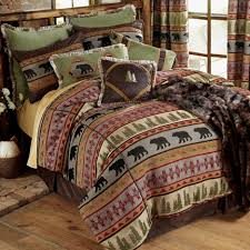 rustic quilts for outdoor bedding sets bear bedding lodge themed comforters