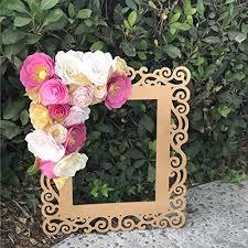 Paper Flower Frame Amazon Com Pinks And Gold Paper Flower Frame Handmade