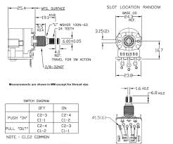 cts 250k dpdt push pull potentiometer