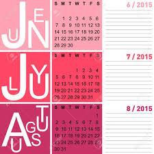 Calendar 2015 June July Jazzy Seasonal Calendar Summer 2015 Including June July And
