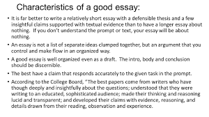 tools for success on the ap lang and comp exam ppt characteristics of a good essay