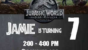 Jurassic Park Invitations 28 Jurassic World Invitation Template Free Latennischamps