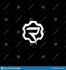 Gun Company Logos Letter R With Gear And Gun Silhouette Vector Logo Template