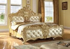 Zelda Gold Queen Bed