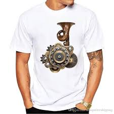 T Shirt Clothing Plus Size Steampunk Short Sleeve Men Zomer Crew Neck T Shirts Good T Shirt Sites One Tee A Day From Designfreeshipping 12 7