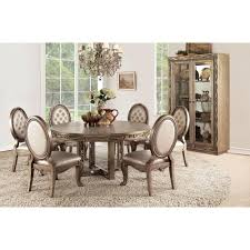 Acme Furniture Orianne Antique Gold Dining Table 63785 The Home Depot