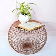 wire basket side table round wire side table black wire basket side table