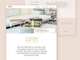 Interior Design Newsletter Mesmerizing ARK Interiors Website By Christina Paone Dribbble