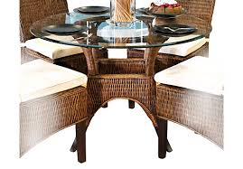 contemporary decoration round wicker dining table home dining rooms dining tables abaco rattan