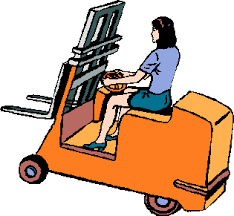 Image result for forklift operator cartoon