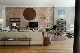 View in gallery exposed brick wall living room