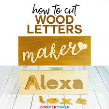 Cut Wood Letters With Cricut Names Cake Toppers Puzzles