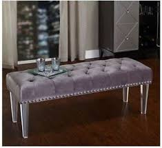 foot of bed furniture. Image Is Loading Bed-Bench-End-Foot-Velvet-Ottoman-Tufted-Footstool- Foot Of Bed Furniture A