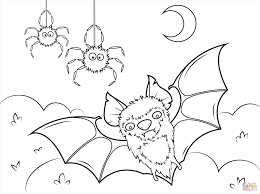 Small Picture Printable Halloween Bats Coloring Pages Coloring Page Of A Flying