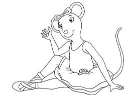 Small Picture Angelina Ballerina Tired After Practice Coloring Pages Batch