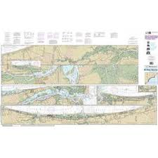 Maptech Noaa Recreational Waterproof Chart Intracoastal Waterway Myrtle Grove Sound And Cape Fear River To Casino Creek 11534