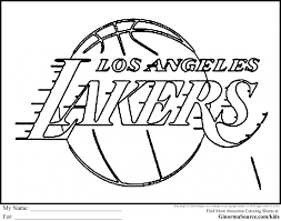 Small Picture Basketball coloring pages lakers logo coloring page coloring home
