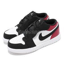 Details About Nike Jordan 1 Low Alt Td I Aj1 Black Toe Red Toddler Infant Shoes Ci3436 116