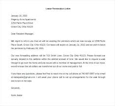 Lease Termination Letters Free Lease Termination Letter From Landlord To Tenant Shared By