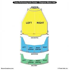 Tulsa Pac Seating Chart The Most Incredible Tulsa Pac Seating Chart Seating Chart
