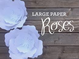 Pearl S Crafts Paper Flower Templates How To Make Giant Paper Roses Plus A Free Petal Template