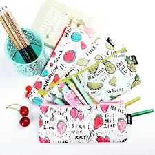 <b>Fresh</b> Style <b>Fruits</b> Pencil Bag PU Leather | Shopee Philippines