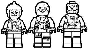 Spiderman Lego Coloring Page Coloring Pages